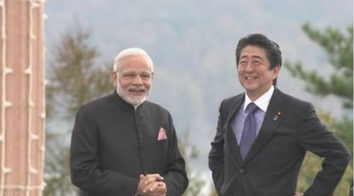インドのモディ首相と安倍晋三.PNG