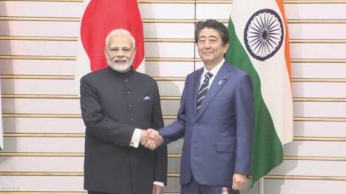 インドのモディ首相と安倍晋三・首脳会談.PNG