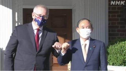 オーストラリアのモリソン首相と菅義偉.PNG