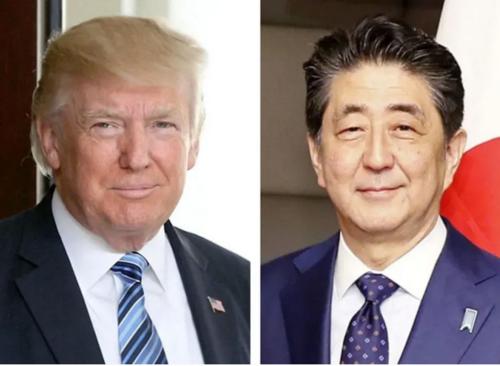 トランプと安倍晋三・電話会談・東京五輪延期.PNG