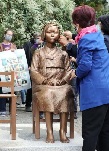 ドイツの慰安婦像.PNG