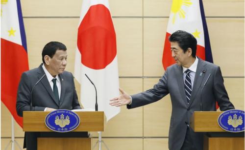 フィリピンのドゥテルテ大統領と安倍晋三.PNG