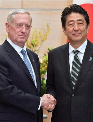 マティス米国防長官と安倍首相.PNG