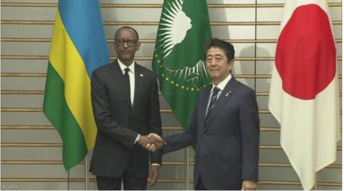 ルワンダのカガメ大統領と安倍晋三.PNG
