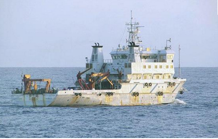 中国の海洋調査船・沖の鳥島沖.PNG