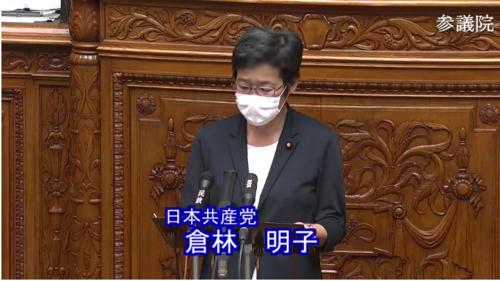 倉林明子(日本共産党)・年金法案・参院本会議.PNG