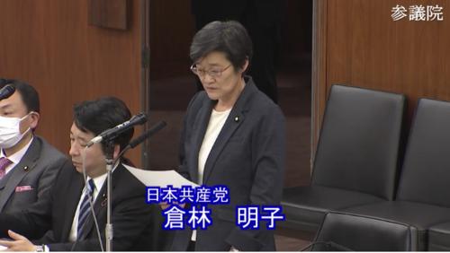 倉林明子(日本共産党)・雇用保険法改正案・反対討論.PNG