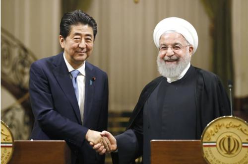 安倍晋三とイランのロウハニ大統領・イラン.PNG