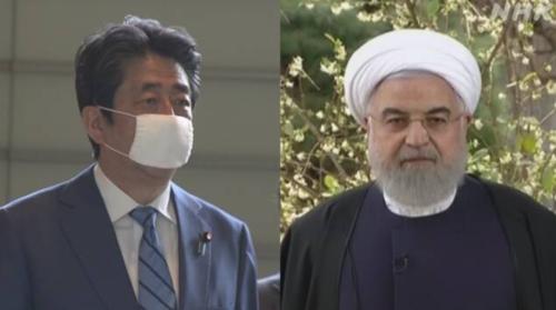 安倍晋三とイランのロウハニ大統領・電話会談・コロナ.PNG