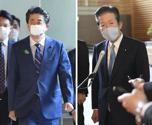 安倍晋三と公明党の山口那津男・新型コロナ・給付金.PNG