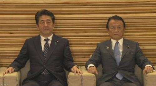 安倍晋三と麻生太郎・閣議・6月21日.PNG