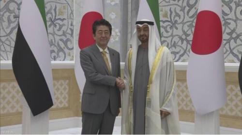 安倍晋三とUAEのムハンマド・アブダビ皇太子.PNG