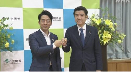 小泉進次郎と野上浩太郎・脱炭素社会の実現.PNG