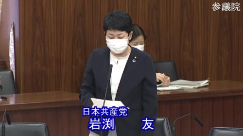 岩渕友(日本共産党)・産業競争力強化法改正案・反対討論.PNG