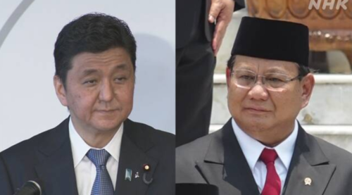 岸信夫とインドネシアのプラボウォ防衛相.PNG
