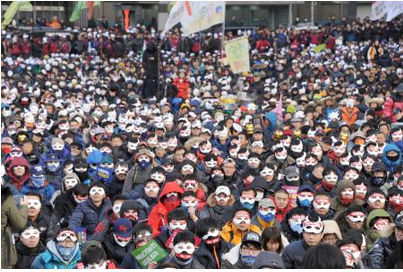 朴槿恵政権に抗議する集会.PNG