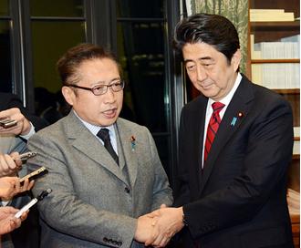 渡辺喜美と安倍首相.PNG