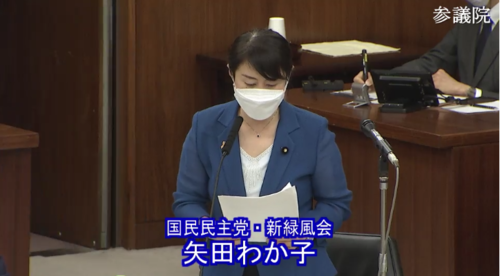 矢田わか子・土地規制法案・賛成討論.PNG