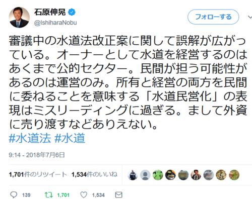 石原伸晃ツイート・水道法改正.PNG