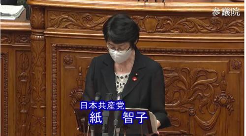 紙智子・第二次補正予算・反対討論.PNG