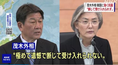 茂木敏充と韓国の康京和・韓国の判決.PNG