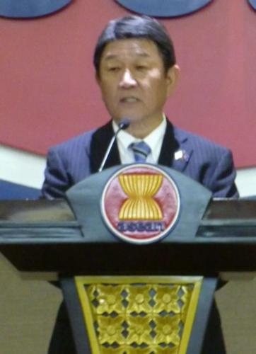 茂木敏充・ASEANで演説.PNG