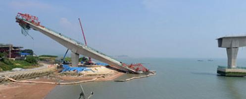 韓国の大橋が工事中に大崩壊.PNG