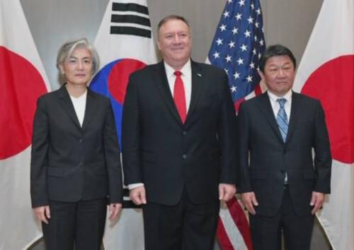 韓国の康京和外相、米国のポンペオ国務長官、茂木外相.PNG