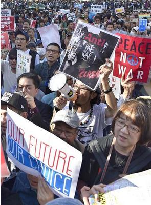 SEALDsが開いた集会.PNG
