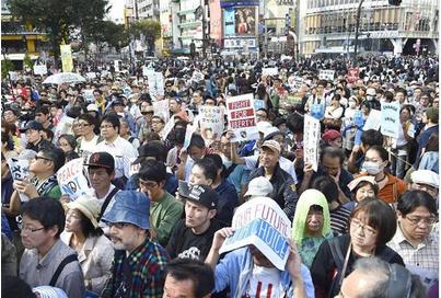SEALDsが開いた集会に集まった人々.PNG
